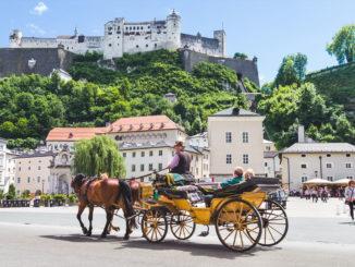Kutschfahrt durch Salzburg, Österreich